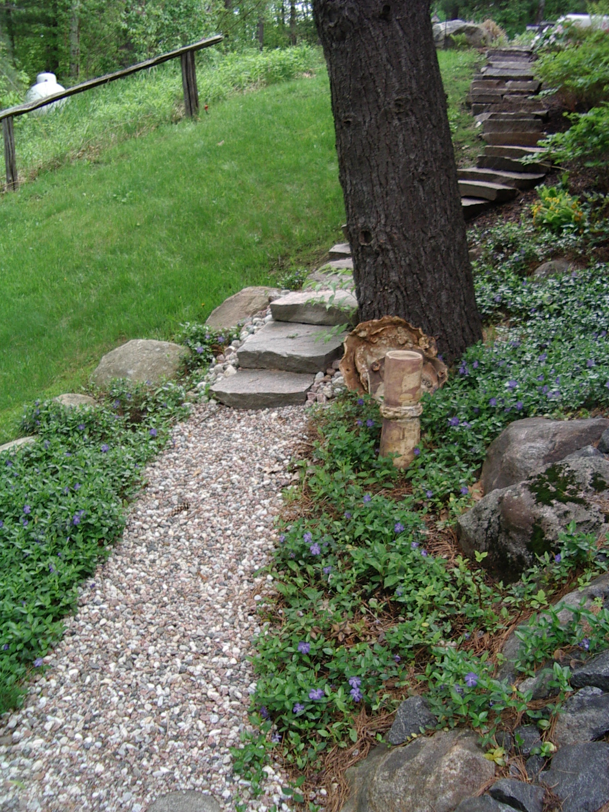Winding path and stairs